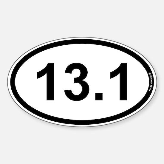 13.1 Half Marathon Sticker (Oval)
