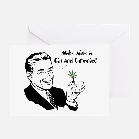 Gin & Chronic Greeting Cards (Pk of 10)