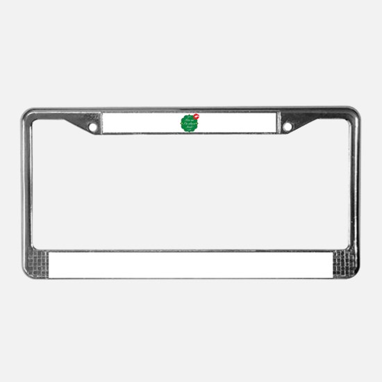 Kiss Me, I'm Almost Irish License Plate Frame