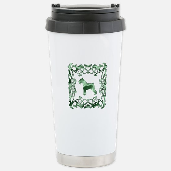 Schnauzer Lattice Stainless Steel Travel Mug