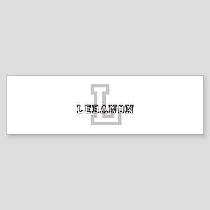 Letter L: Lebanon Bumper Sticker