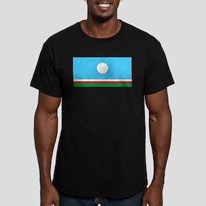 Sakha Flag Men's Fitted T-Shirt (dark)