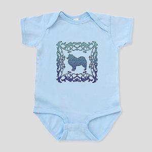 Samoyed Lattice Infant Bodysuit