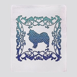 Samoyed Lattice Throw Blanket