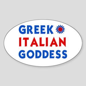 Italian Greek Goddess Oval Sticker