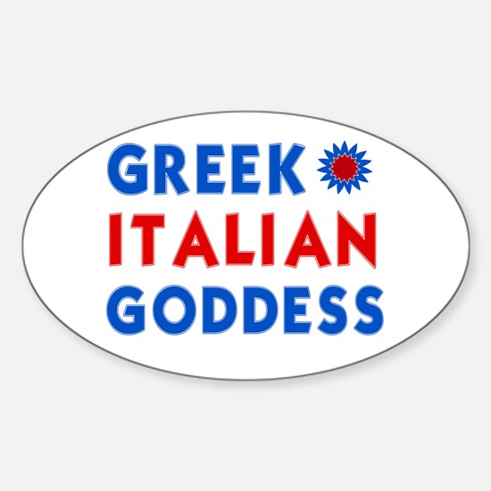 Italian Greek Goddess Oval Decal