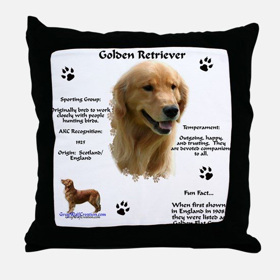 Golden 1 Throw Pillow