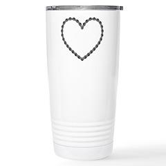 Chain Heart Stainless Steel Travel Mug