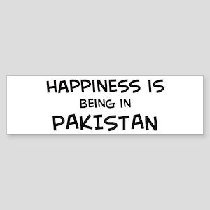 Happiness is Pakistan Bumper Sticker