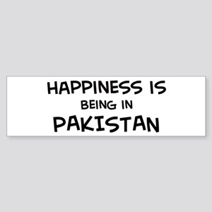 Happiness is Pakistan Bumper Sticker