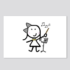 Girl & Conductor Postcards (Package of 8)