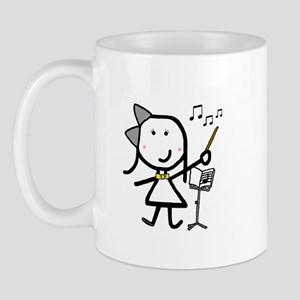 Girl & Conductor Mug