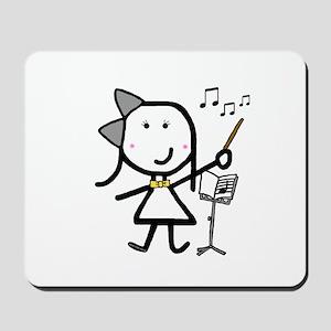 Girl & Conductor Mousepad