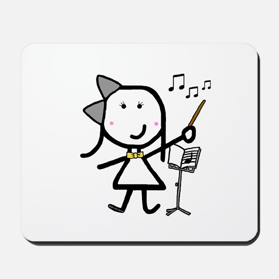 Girl & Conductor Mousepad