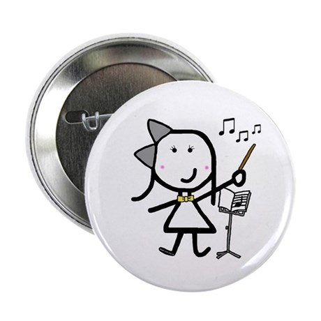 """Girl & Conductor 2.25"""" Button"""