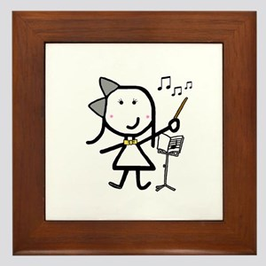 Girl & Conductor Framed Tile