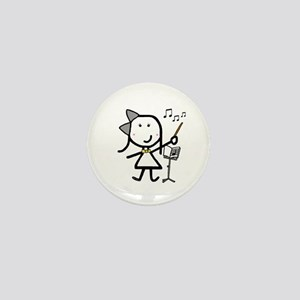 Girl & Conductor Mini Button