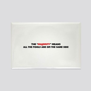 The majority means Rectangle Magnet (10 pack)