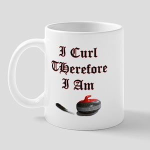 I Curl Therefore I Am Mug
