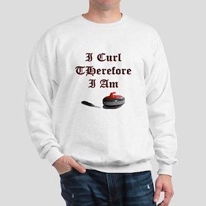 I Curl Therefore I Am Sweatshirt