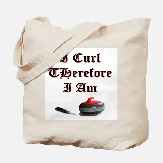 I Curl Therefore I Am Tote Bag