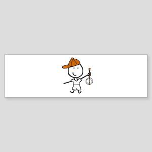 Boy & Banjo Sticker (Bumper)