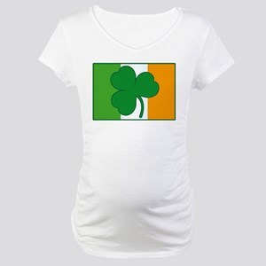 Shamrock Ireland Flag Maternity T-Shirt