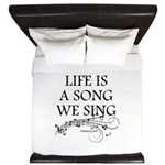 Life is a song we sing-tomaca King Duvet