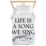 Life is a song we sing-tomaca Twin Duvet Cover