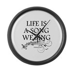 Life is a song we sing-tomaca Large Wall Clock