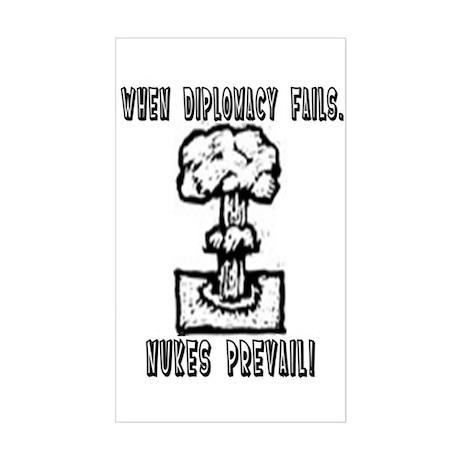 Nukes Prevail! Sticker (Rectangular)
