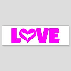 LOVE WHALES Sticker (Bumper)