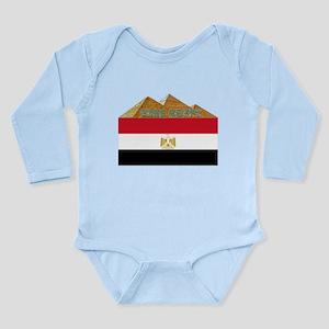 Free Egypt Flag Long Sleeve Infant Bodysuit