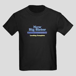 New Big Sister Kids Dark T-Shirt