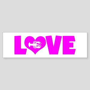LOVE LOBSTERS Sticker (Bumper)