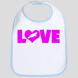 LOVE MANATEES Bib
