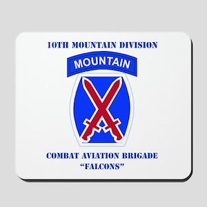 DUI - Combat Aviation Brigade with text Mousepad