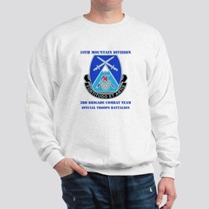 3rd BCT - Special Troops Bn with Text Sweatshirt