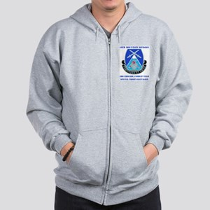 3rd BCT - Special Troops Bn with Text Zip Hoodie