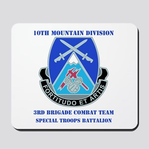 3rd BCT - Special Troops Bn with Text Mousepad