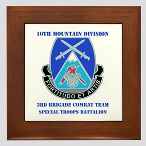 3rd BCT - Special Troops Bn with Text Framed Tile