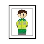 Ambulance Paramedic Framed Panel Print