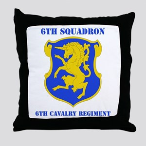 DUI - 6th Sqdrn - 6th Cavalry Regt with Text Throw