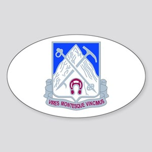 DUI - 2nd Bn - 87th Infantry Regt Sticker (Oval)