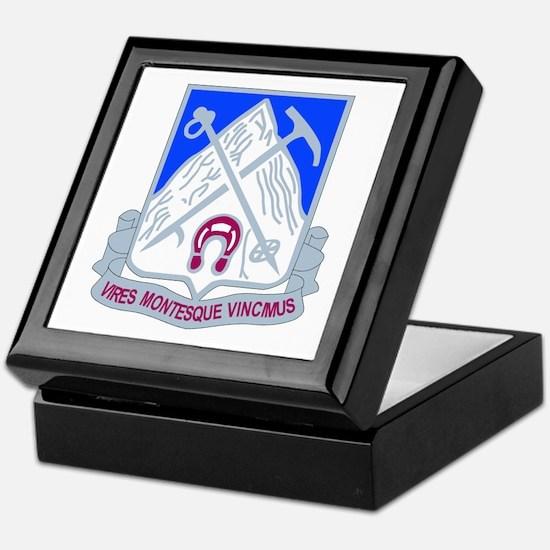 DUI - 2nd Bn - 87th Infantry Regt Keepsake Box