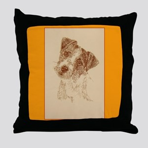 Jack Russell Terrier Rough Throw Pillow