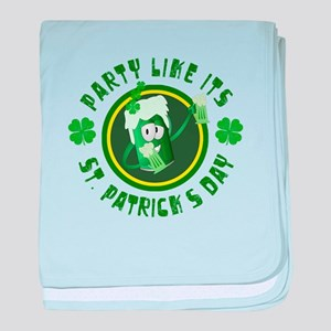 St. Patrick's Day Party baby blanket