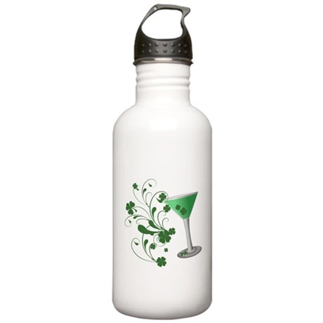 St. Patrick's Day Martini Stainless Water Bottle 1