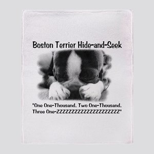 Boston Hide and Seek Throw Blanket