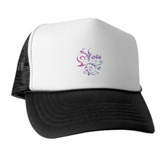 Love French Curve Trucker Hat